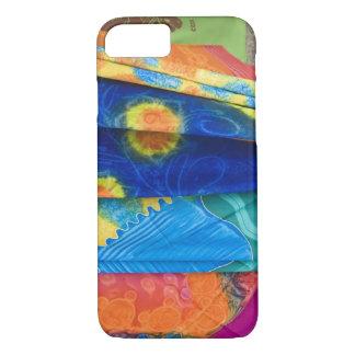 Coque iPhone 7 Îles Cook, Rarotonga. Tissu Punanga Nui de batik