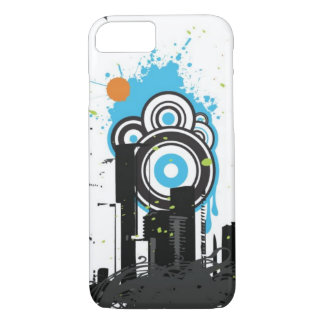 Coque iPhone 7 Illustration d'un paysage urbain sale