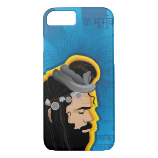 Coque iPhone 7 Illustration indienne sage sainte de Digitals