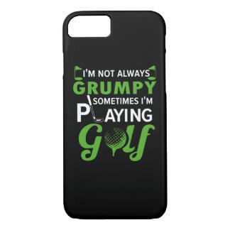 Coque iPhone 7 Im parfois Im non grincheux golf de jeu