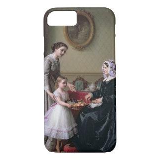 """Coque iPhone 7 Intérieur """"aux châtaignes"""" Wimbledon, grand-mère"""