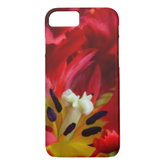 Coque iPhone 7 Intérieur de fleur de tulipe de perroquet