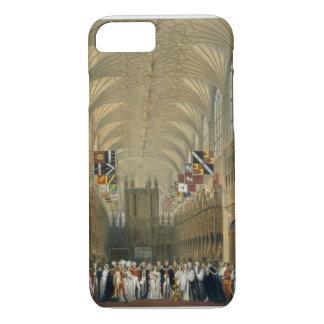 Coque iPhone 7 Intérieur de la chapelle de St George, 1838 (litho