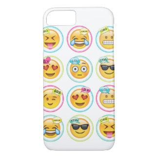 Coque iPhone 7 iPhone 7, à peine là cas d'Emoji de téléphone