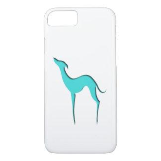 Coque iPhone 7 iPhone 7 de silhouette de turquoise de
