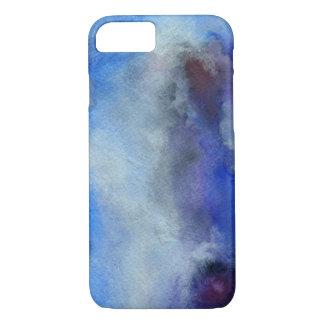 Coque iPhone 7 iPhone bleu 7 d'Apple d'art d'aquarelle, à peine