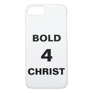 "Coque iPhone 7 iPhone de ""Bold4Christ"" Apple 8/7 cas"