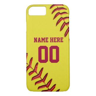 Coque iPhone 7 iPhone du base-ball 7 cas avec votre NOM et NOMBRE