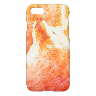 Coque iPhone 7 iPhone orange de loup 8/7 cas brillant