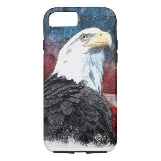 Coque iPhone 7 iPhone patriotique 7 Shell avec Eagle chauve et