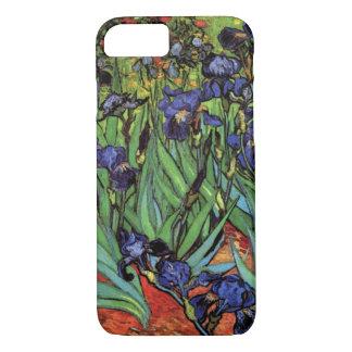 Coque iPhone 7 Iris de Van Gogh, beaux-arts vintages de jardin