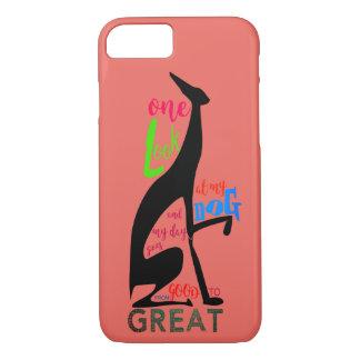 Coque iPhone 7 Italien de lévrier ma silhouette élégante d'amour