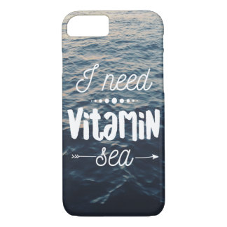 Coque iPhone 7 J'ai besoin de la mer de vitamine