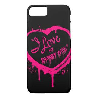 Coque iPhone 7 J'aime mon iPhone 7/8 de cas de téléphone d'épouse
