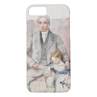 Coque iPhone 7 James Wyatt avec son Grandaughter Mary, le Chi le