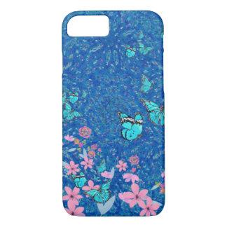 Coque iPhone 7 Jardin floral de papillon