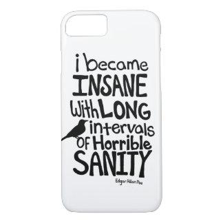 """Coque iPhone 7 """"Je suis devenu aliéné…"""" Citation par Edgar Allan"""