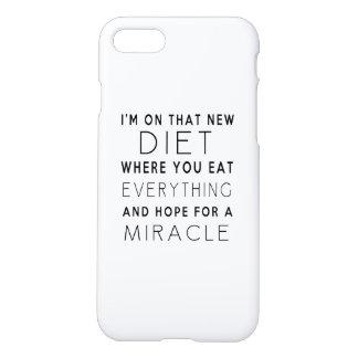 Coque iPhone 7 Je suis sur ce nouveau régime - citation drôle