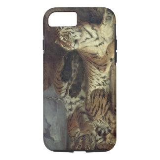 Coque iPhone 7 Jeune tigre jouant avec sa mère, 1830 (huile