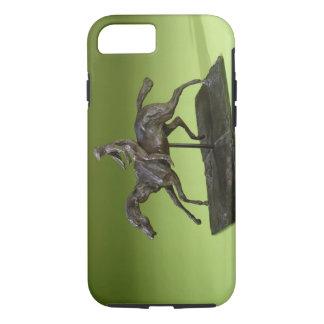 Coque iPhone 7 Jockey sur un cheval (bronze)
