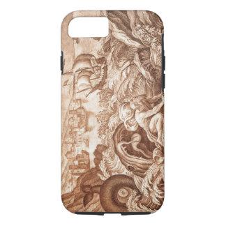 Coque iPhone 7 Jonas et la baleine, illustration d'une bible, en