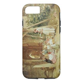 Coque iPhone 7 Jouant aux écoles, 1857 (huile sur le panneau)