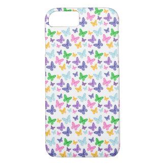 Coque iPhone 7 Kaléidoscope des papillons - cas de téléphone