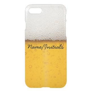 Coque iPhone 7 La bière bouillonne nom potable drôle en gros plan