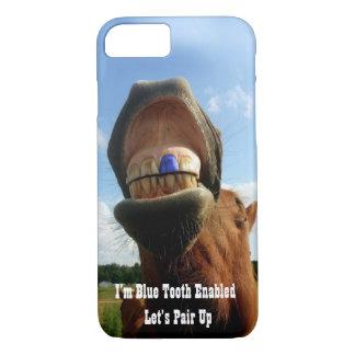 Coque iPhone 7 La dent bleue a permis le cheval