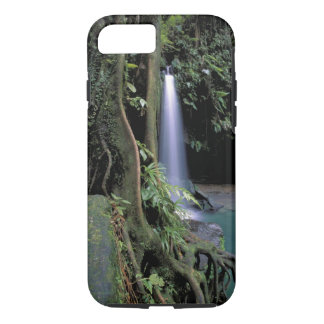 Coque iPhone 7 La Dominique, piscine verte, cascade