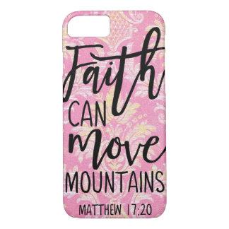 Coque iPhone 7 La foi peut déplacer la croyance chrétienne de
