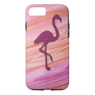 Coque iPhone 7 La grande grue rose colorée a inspiré par la plage