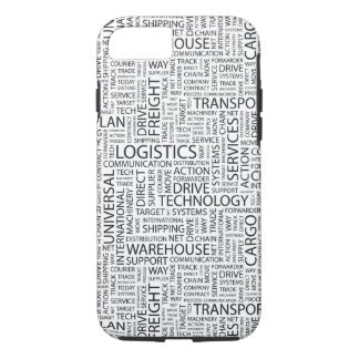 Coque iPhone 7 La LOGISTIQUE modèle avec des mots
