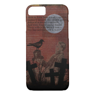 Coque iPhone 7 La lune vintage de corneille de Halloween
