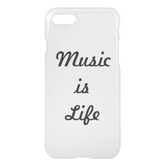 Coque iPhone 7 La musique est la vie