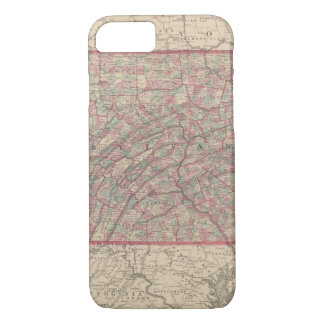 Coque iPhone 7 La Pennsylvanie et New Jersey 2