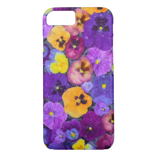Coque iPhone 7 La pensée fleurit le flottement dans le bain