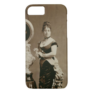 Coque iPhone 7 La Reine Emma (1836-85) (photographie de sépia)