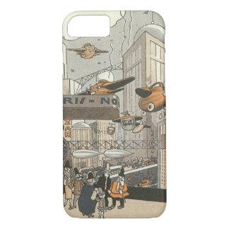 Coque iPhone 7 La science-fiction vintage Paris urbain, punk de