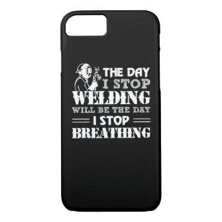 Coque iPhone 7 La soudure d'arrêt de jour arrêt de jour respirant