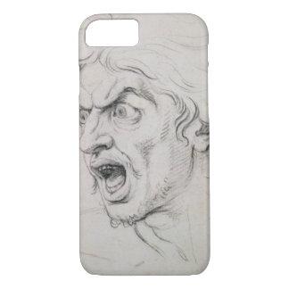 Coque iPhone 7 La tête d'un homme criant dans la terreur, une