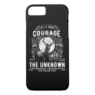 Coque iPhone 7 La vie est au sujet de cas brillant de téléphone