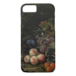 Coque iPhone 7 La vie toujours avec le fruit, le feuillage et les