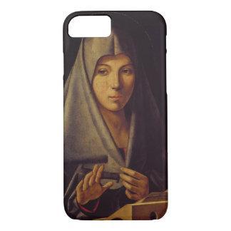 Coque iPhone 7 La Vierge Annunciate (l'huile sur le panneau)
