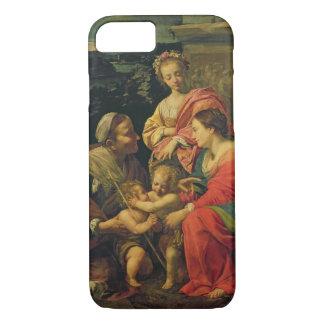 Coque iPhone 7 La Vierge et l'enfant avec St Elizabeth, l'Infan