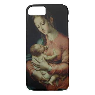 Coque iPhone 7 La Vierge et l'enfant (huile sur le panneau)