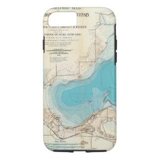 Coque iPhone 7 Lac hydrographique Mendota de carte