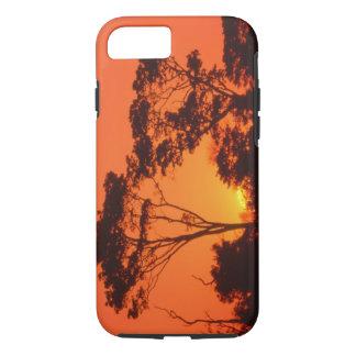 Coque iPhone 7 L'Afrique du Sud.  Coucher du soleil africain