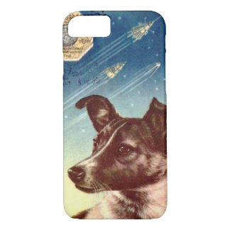 Coque iPhone 7 Laika le cas russe de l'iPhone 7 de chien de