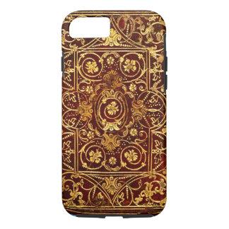 Coque iPhone 7 L'antiquité élégante a doré la couverture de livre